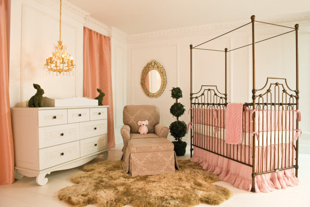 Parisian Crib in Gold from Bratt Decor