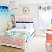 Pink and Blue DIY Girl's Room
