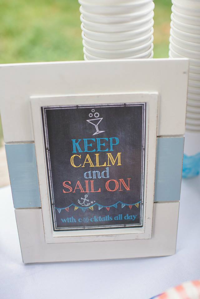 Keep Calm and Sail On Sign for this Nautical Birthday Party