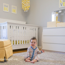 Yellow and Gray Cloud Themed Nursery