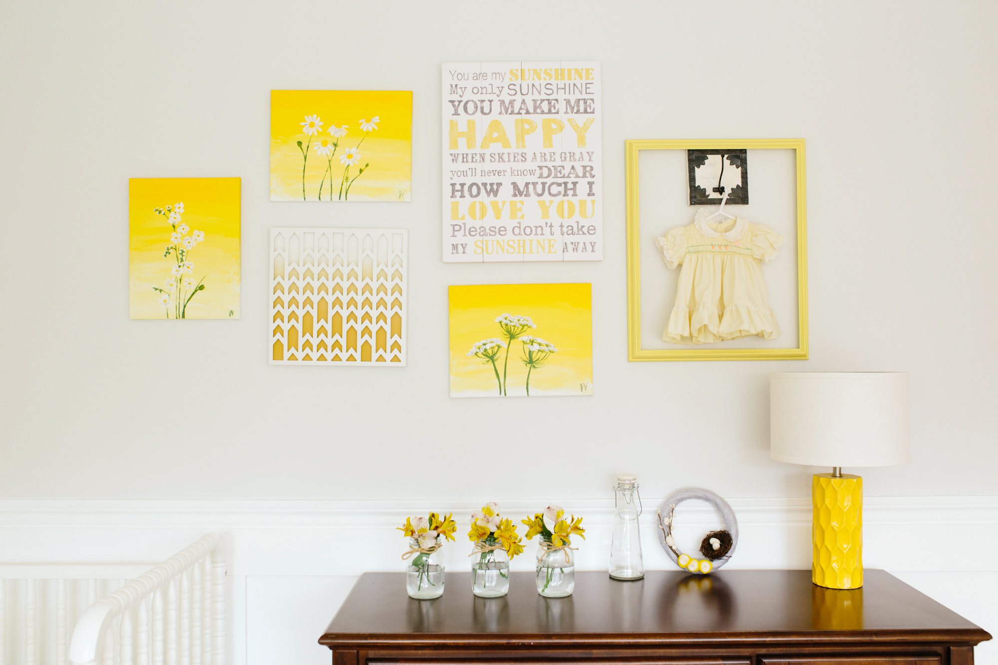 Yellow Themed Gallery Wall