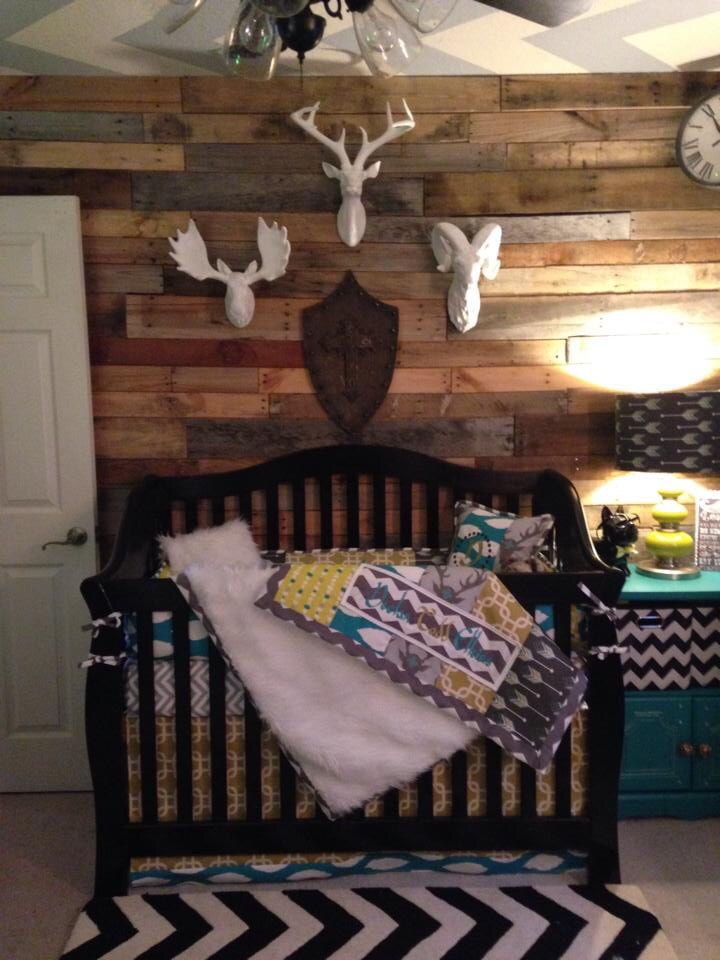 Rustic Nursery with Pallet Wall