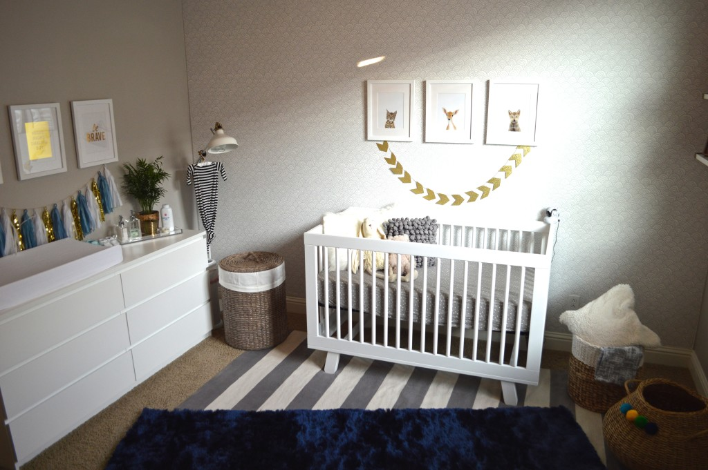 Modern Blue Grey And Gold Nursery Project Nursery