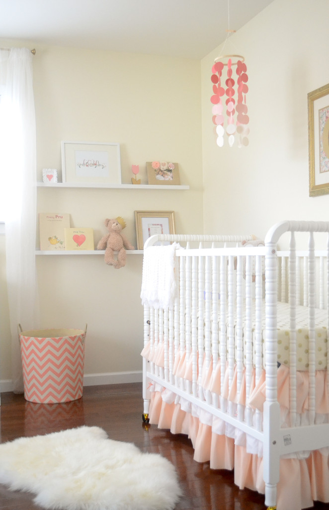 White Girls Nursery with Coral Accents - Project Nursery