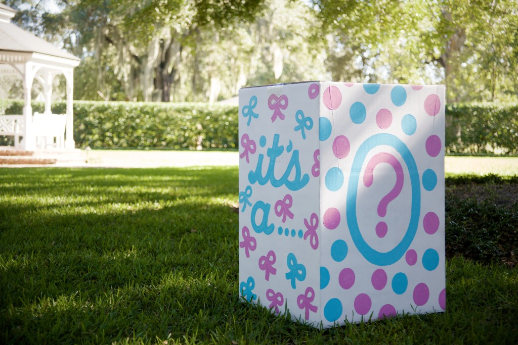Gender Reveal Box of Balloons