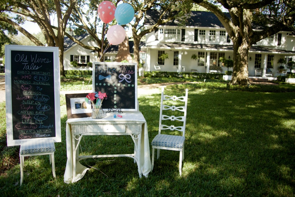 Gender Reveal Party on the Lawn