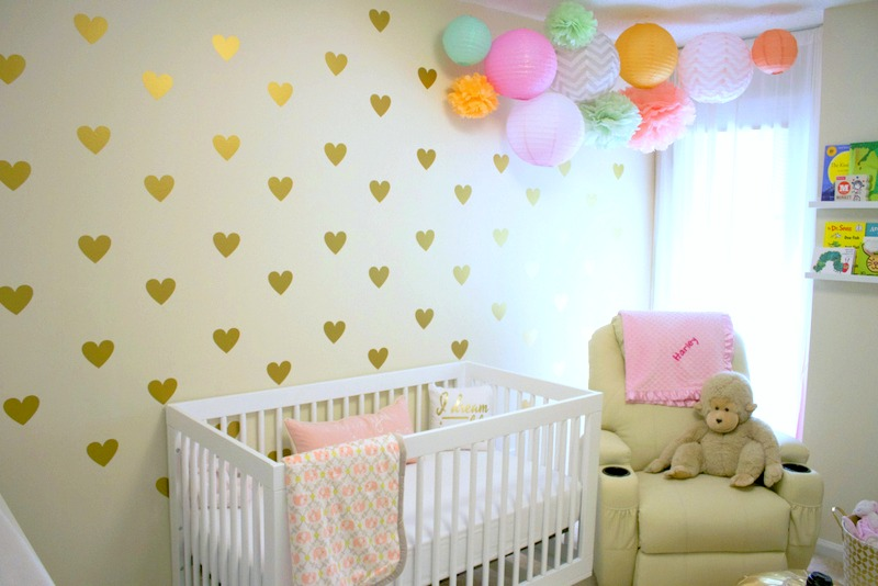 Gold Heart Nursery Wall Decals - Project Nursery