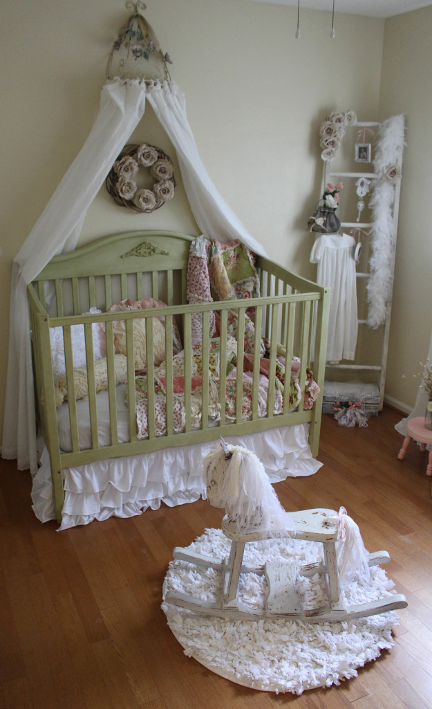 vintage inspired shabby chic nursery project nursery. Black Bedroom Furniture Sets. Home Design Ideas