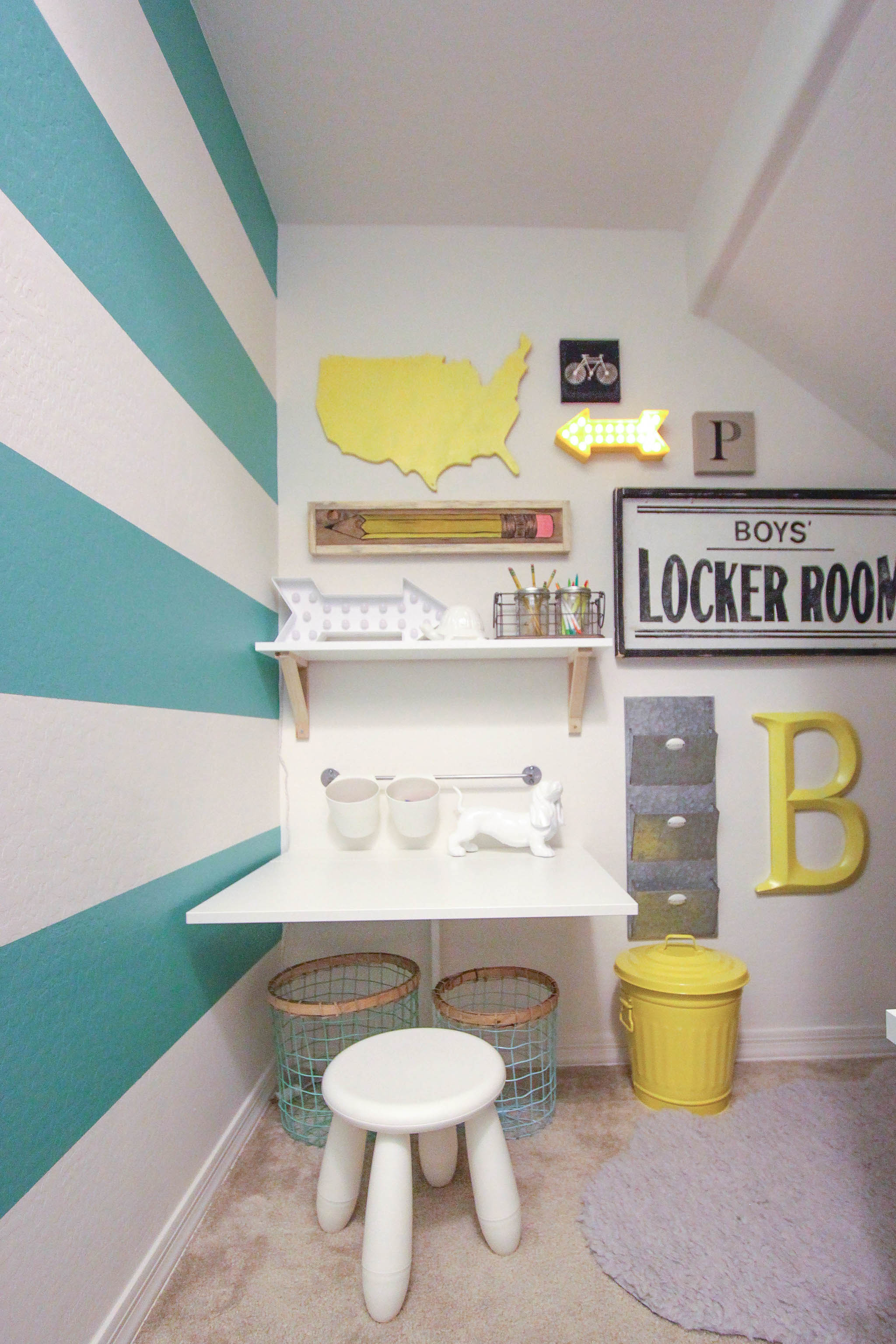 Turquoise and Yellow Playroom