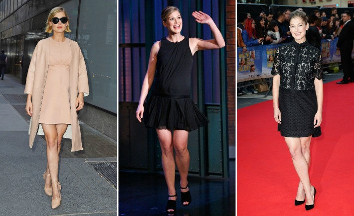 Rosamund Pike's Maternity Style