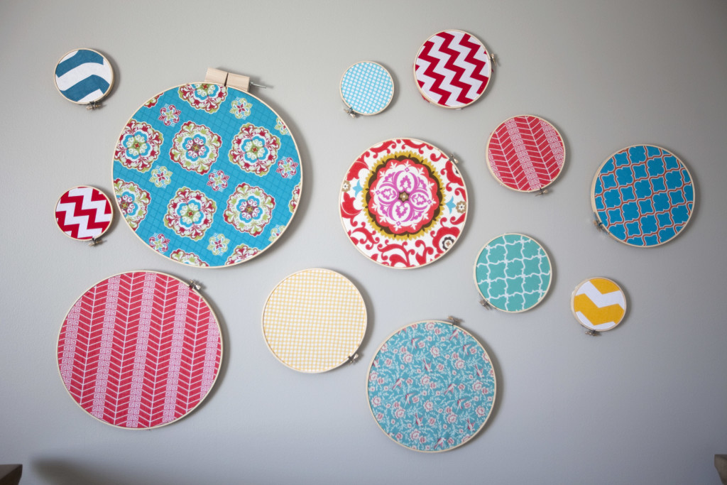 DIY Colorful Fabric Rings in this Colorful Nursery