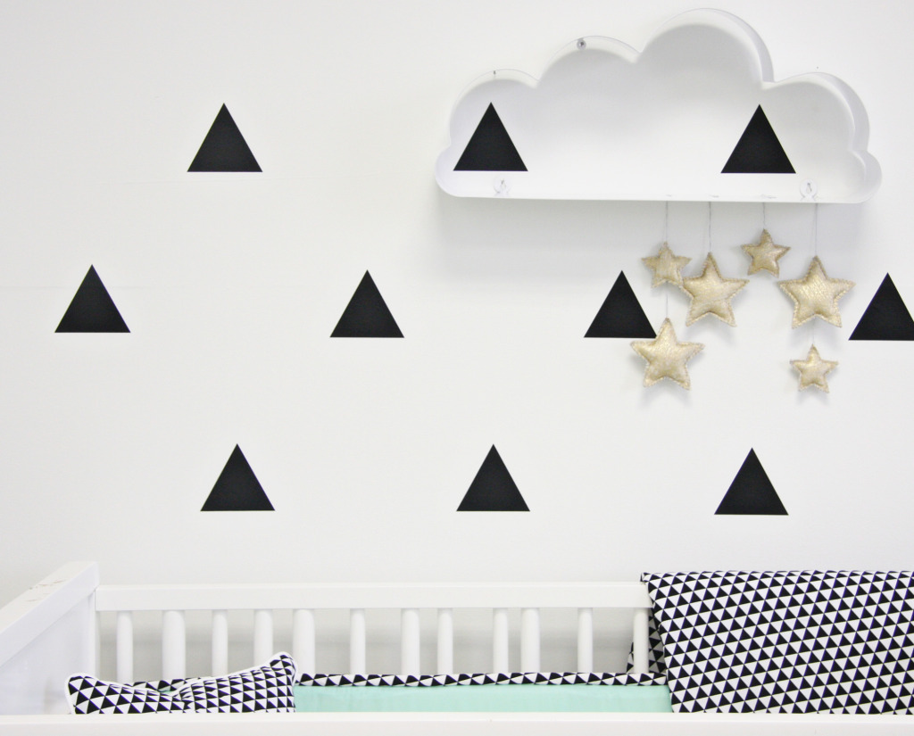 Cloud and Stars Nursery Wall Decor - Project Nursery