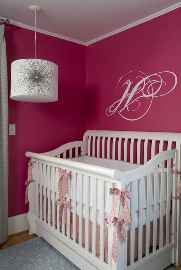 hot pink and white nursery project nursery