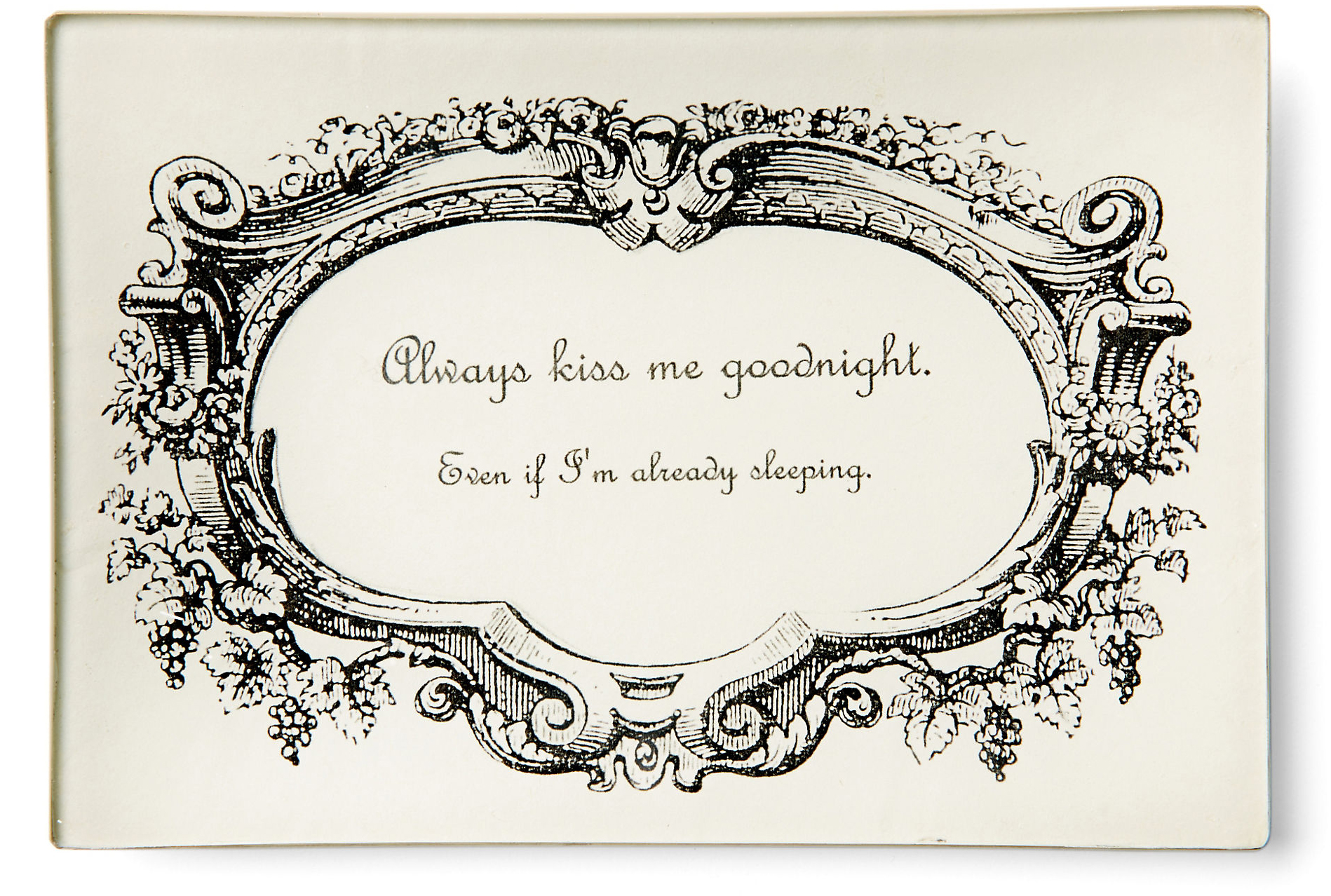 Goodnight Kiss Tray from One Kings Lane