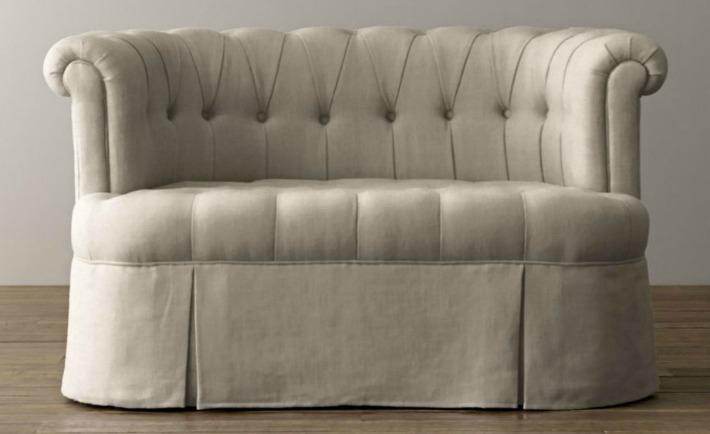 Emmeline Petite Velvet Sofa from RH Baby & Child