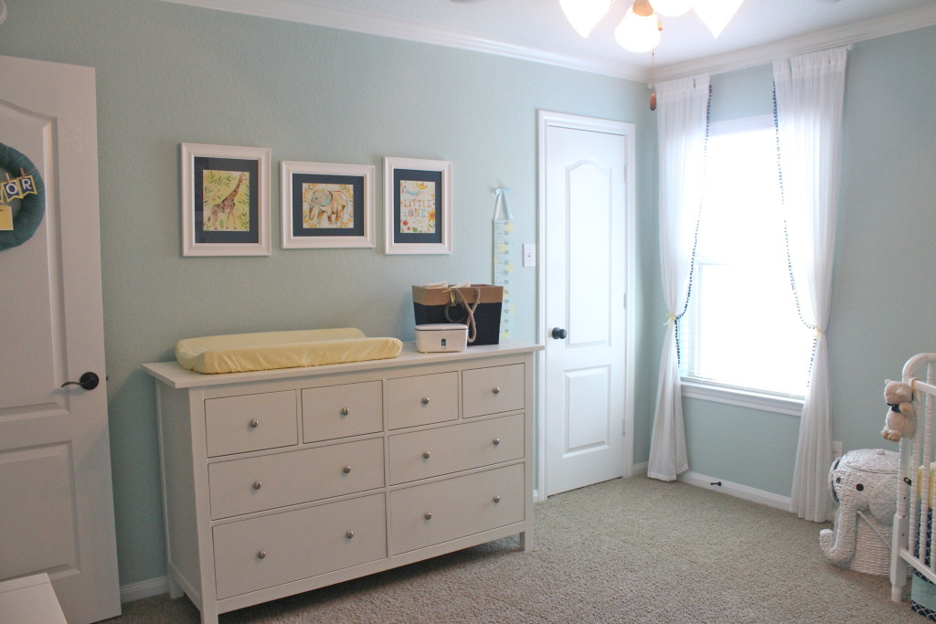 Aqua Navy And Yellow Nursery Project Nursery