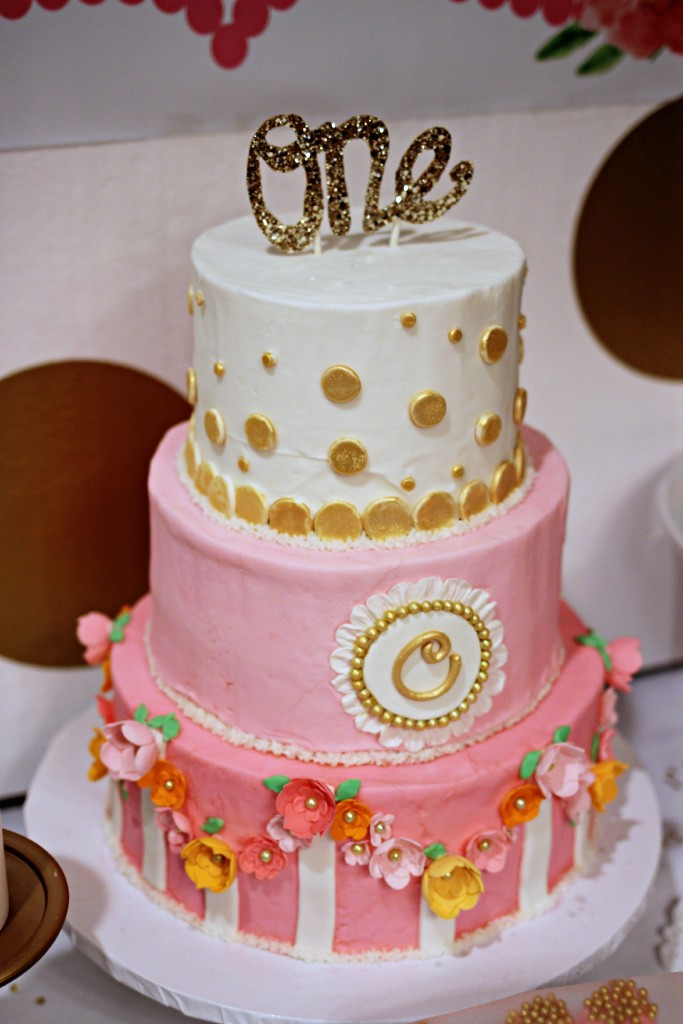Peach And Gold St Bday Cake