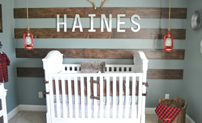 Rustic Nursery with Wood Accent Wall - Project Nursery