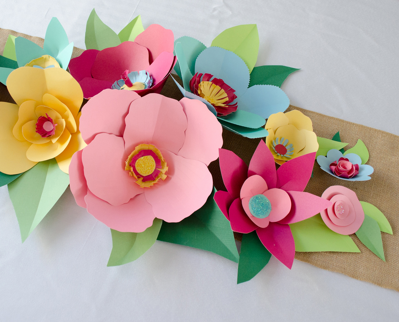 Hand Cut Paper Flowers - Project Nursery
