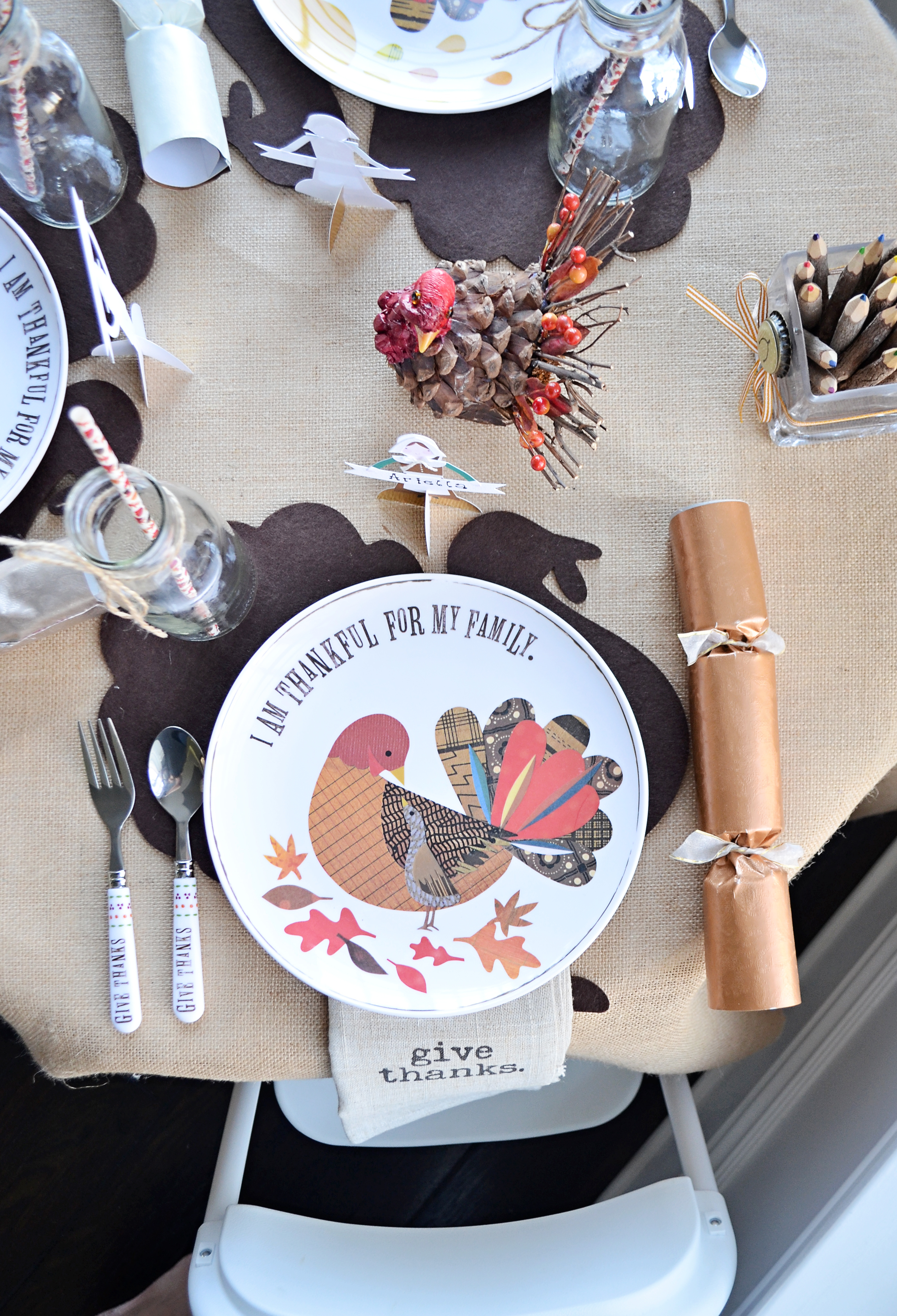 Kids Place Setting for Thanksgiving - Project Nursery
