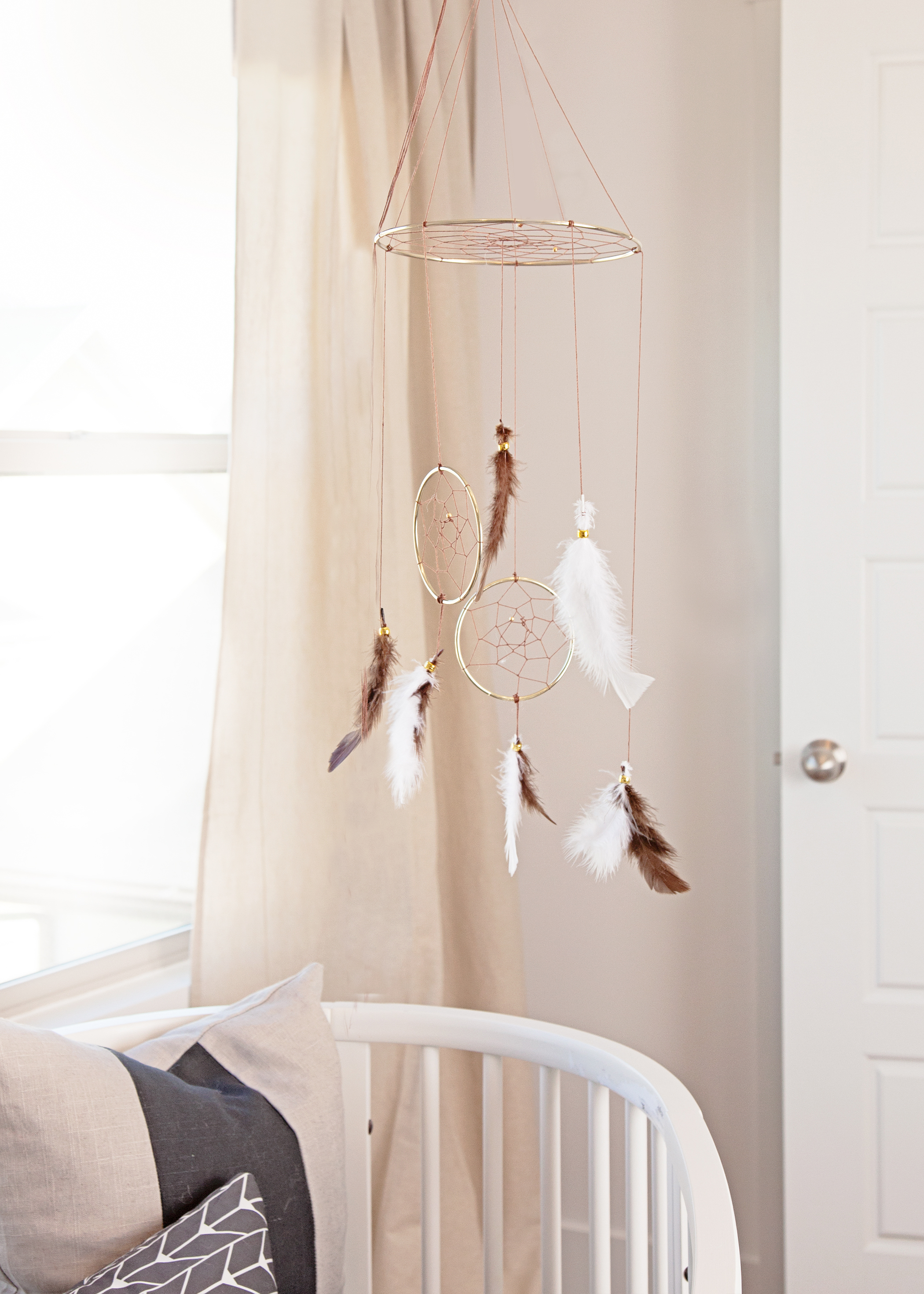 Modern Bohemian Nursery with Dreamcatcher Mobile - Project Nursery