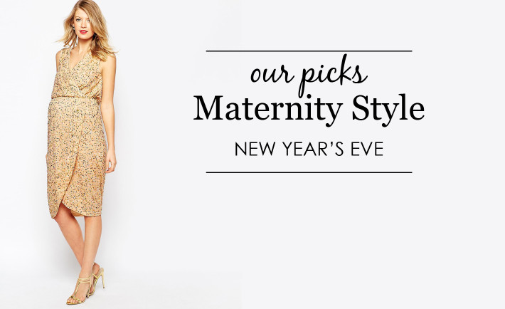 New Year's Eve Maternity Style