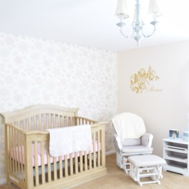 Floral and Gold Nursery