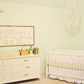 Mint and Gold Soothing Nursery