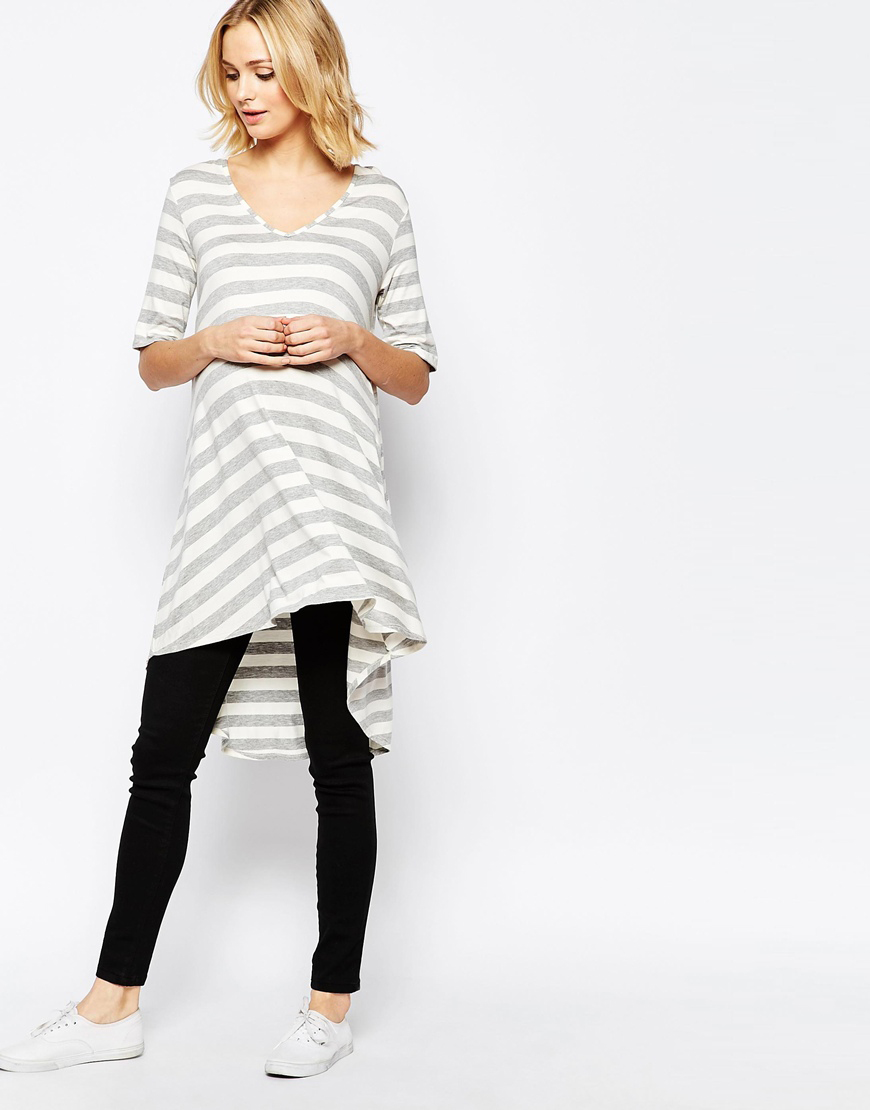 Maternity Longline Stripe Tunic from ASOS