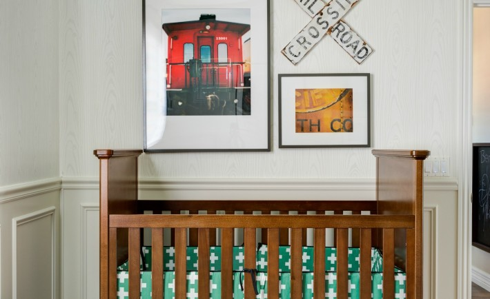 Eclectic Train-Themed Nursery