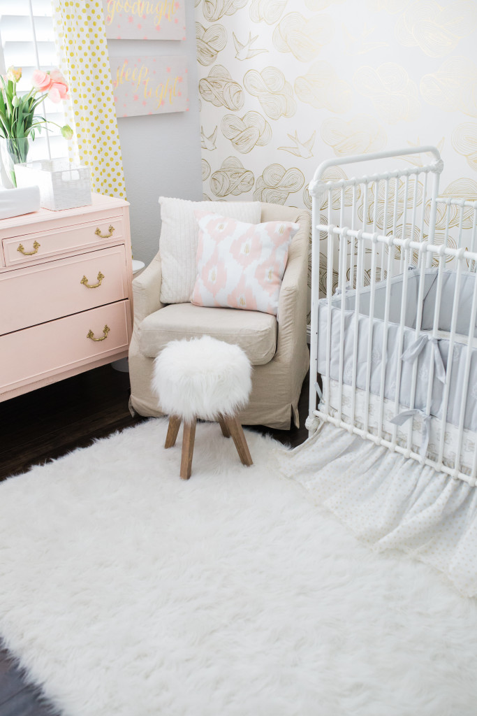 The Posh Home baby girl nursery reveal
