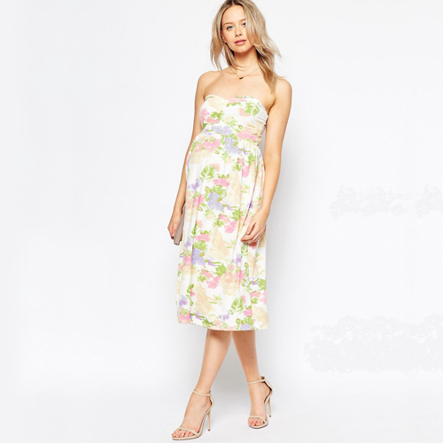 Strapless Floral Maternity Dress from ASOS