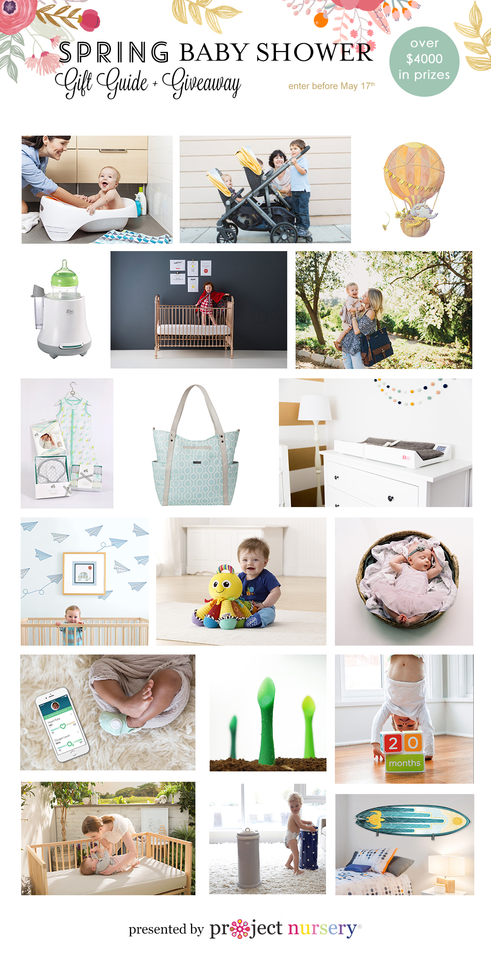 spring baby shower gift guide  giveaway  project nursery, Baby shower