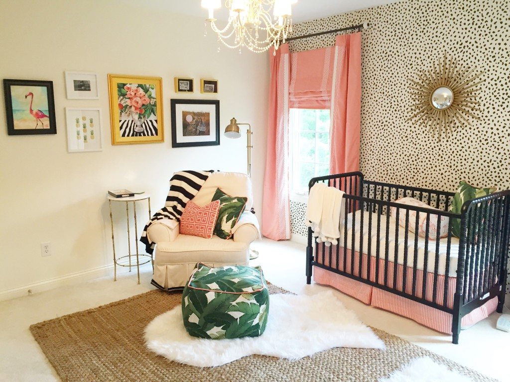 Pink and Gold Palm Beach-Inspired Nursery - Project Nursery