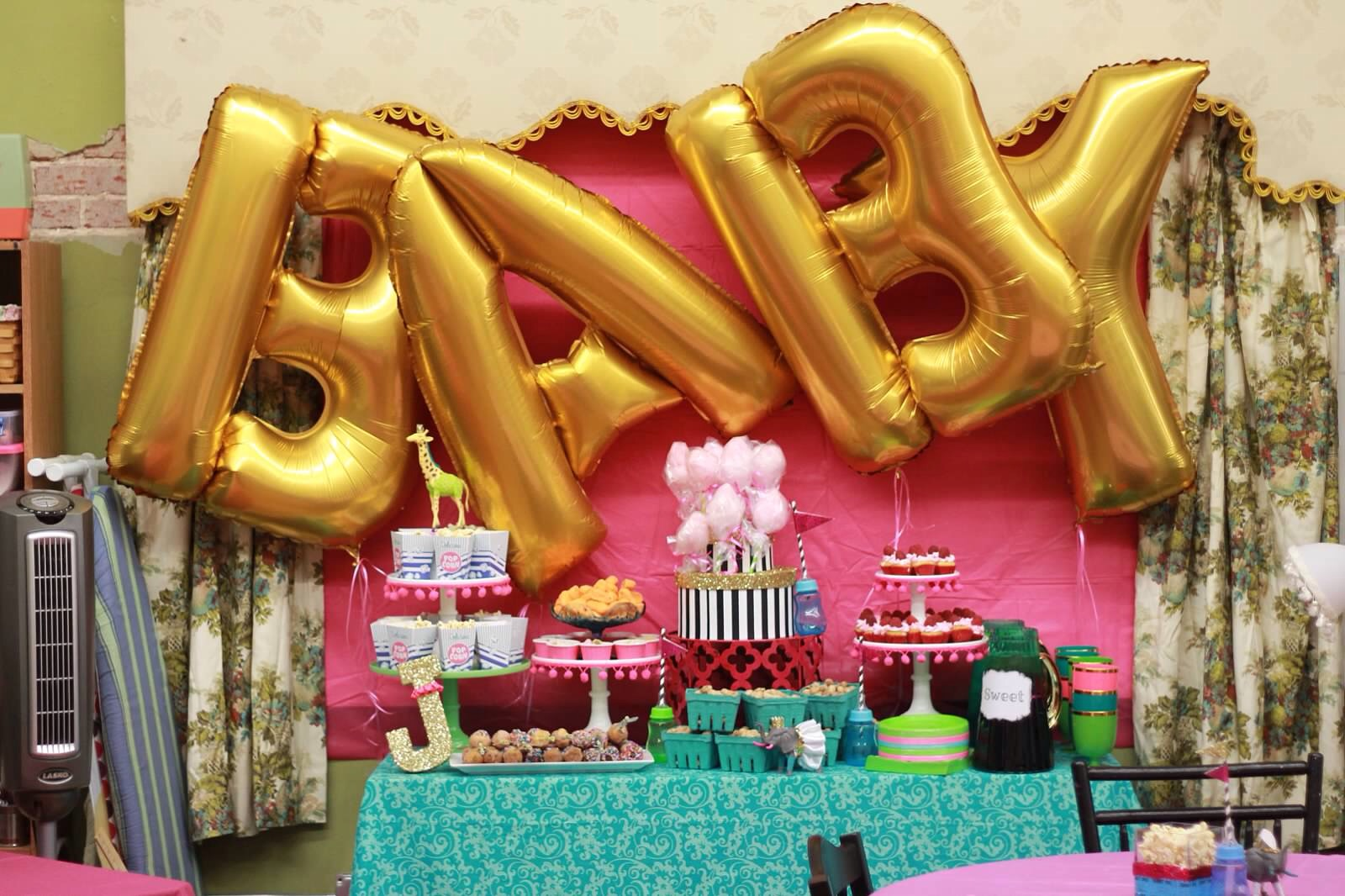 glamorous circus baby shower project nursery