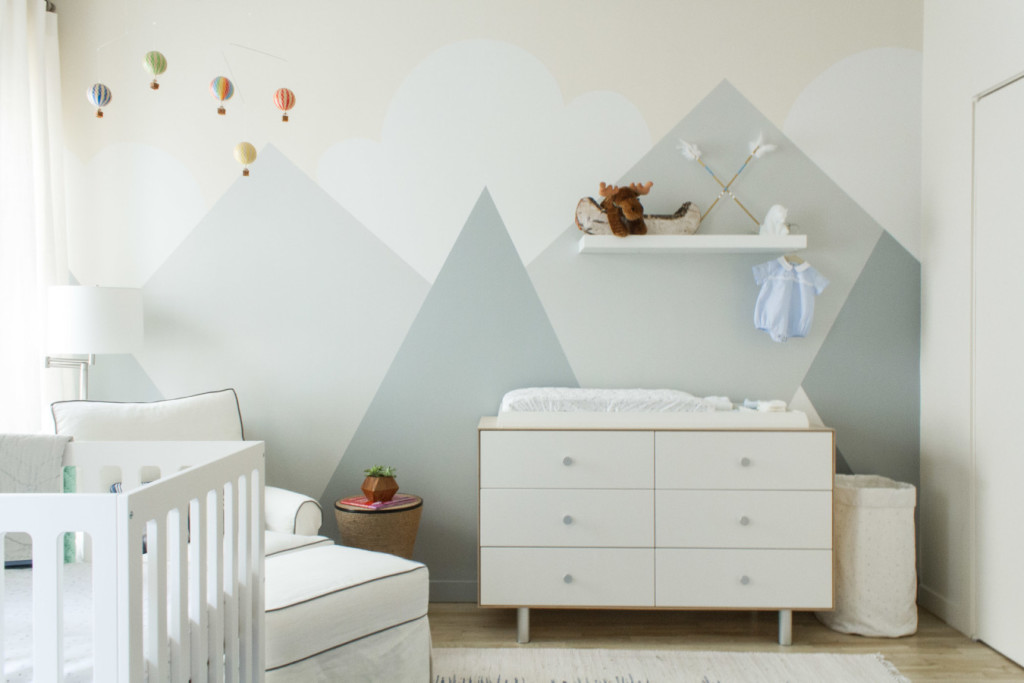 Gray Mountain Mural in Nursery