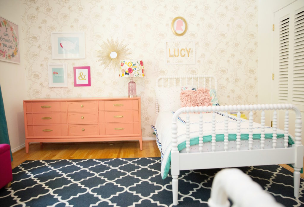 Pretty and Pink Big Girl Room