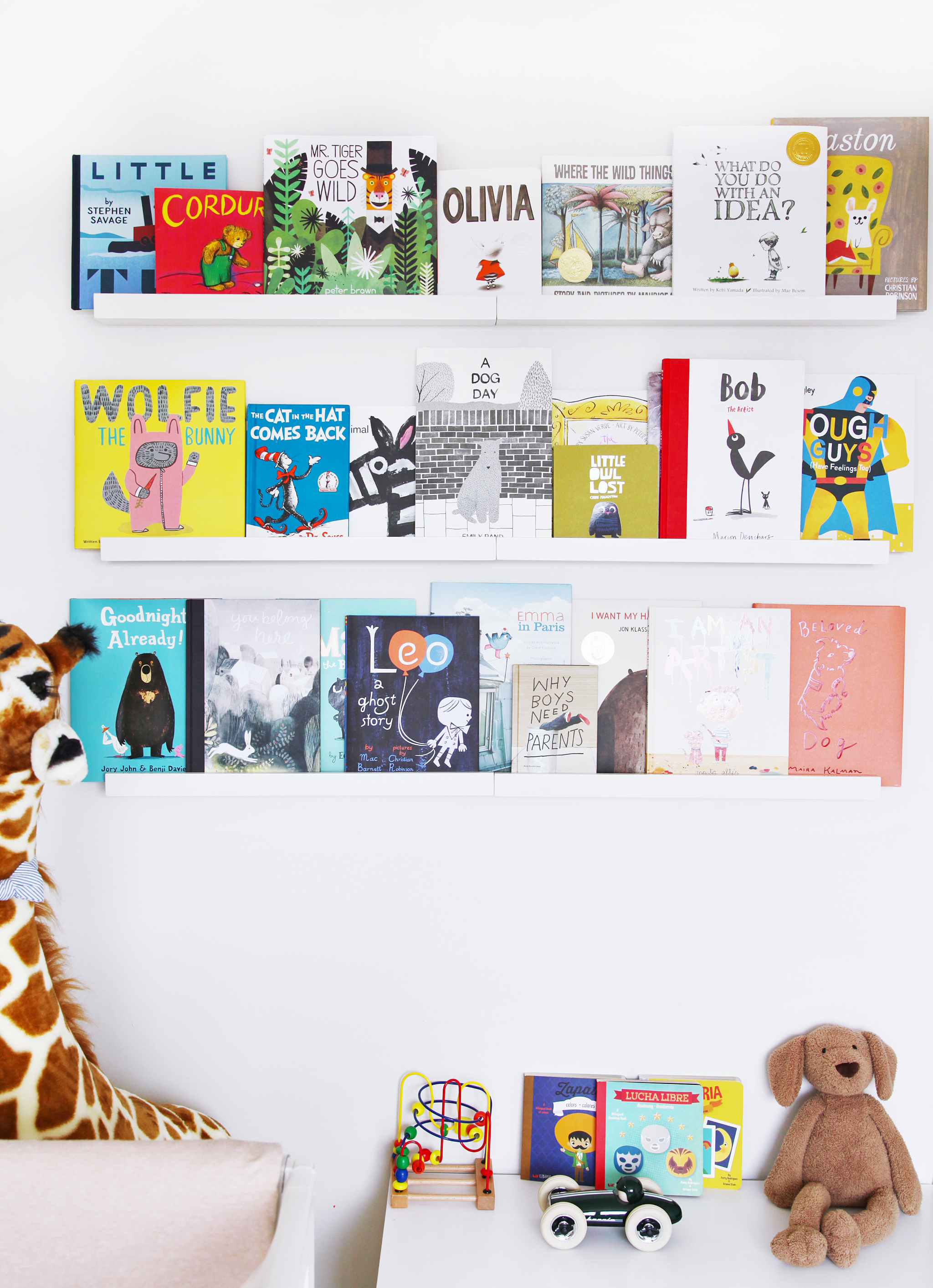 Book Wall Shelves in Nursery
