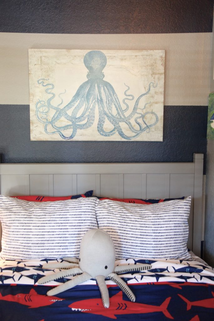 Shark Themed Boy's Room  Project Nursery. Decorative Orb Set. Stainless Steel Dining Room Table. Panic Room Door. Buy Cheap Decorative Pillows. Large Metal Flower Wall Decor. Living Room Corner Decor. Pineapple Decorations. Sliding Panel Room Divider