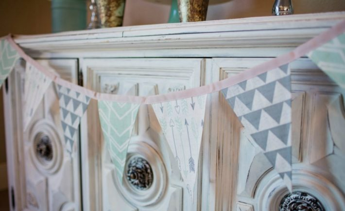 Mint and Gray Baby Shower Decor\