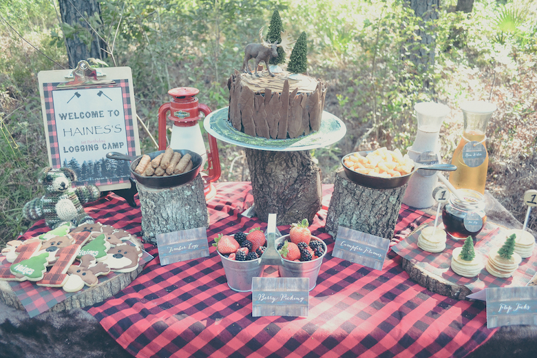 Lumberjack Themed Kids Birthday Party - Project Nursery