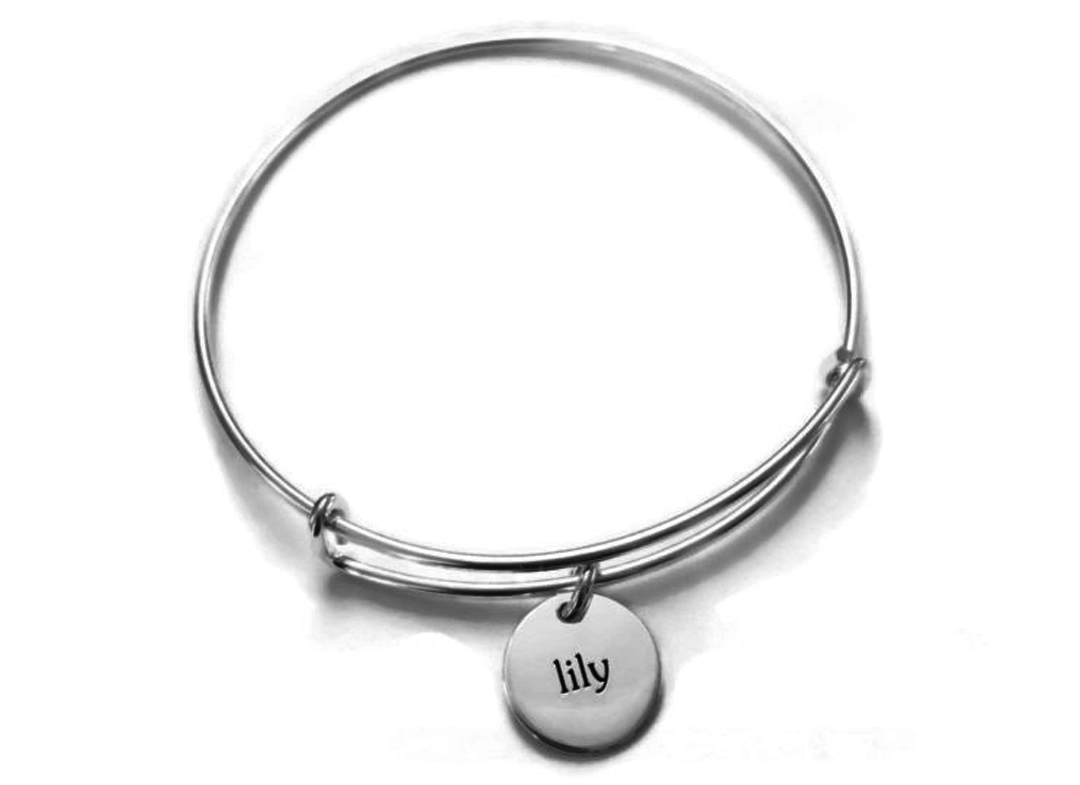 Personalized Expandable Bangle Bracelet