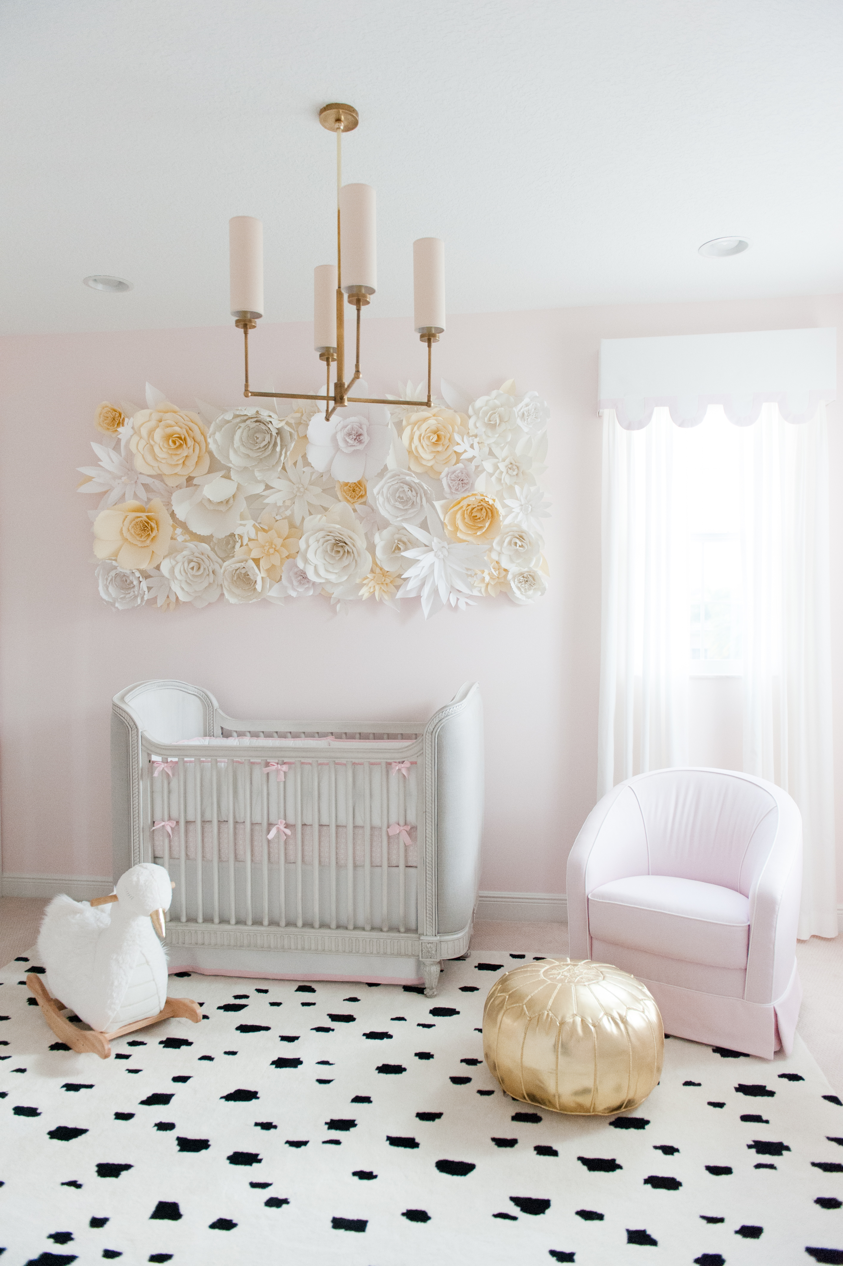 Pink and Gold Swan-Inspired Nursery