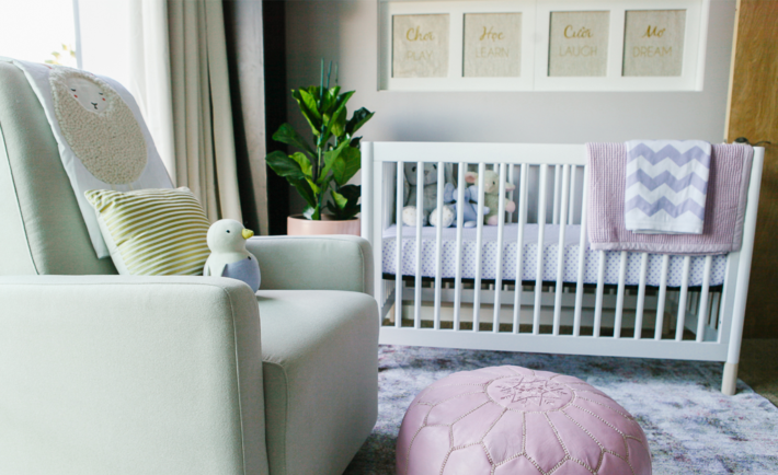 Pink and Blue Modern Nursery