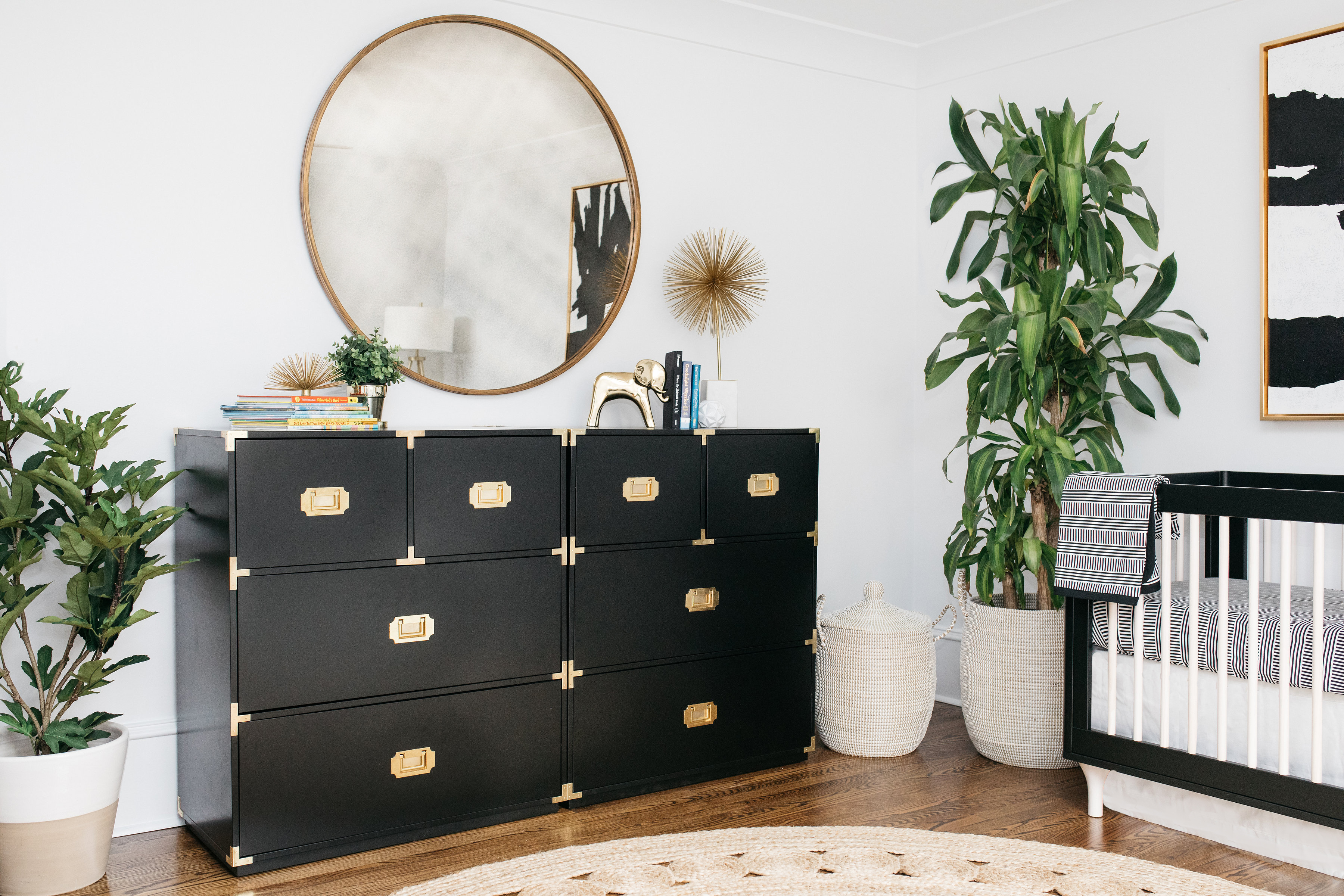 Black and White and Gold Nursery