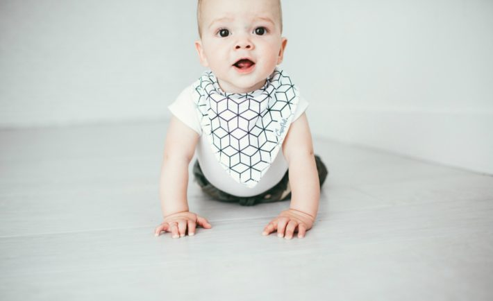 Black and White Bandana Bib from The Project Nursery Shop