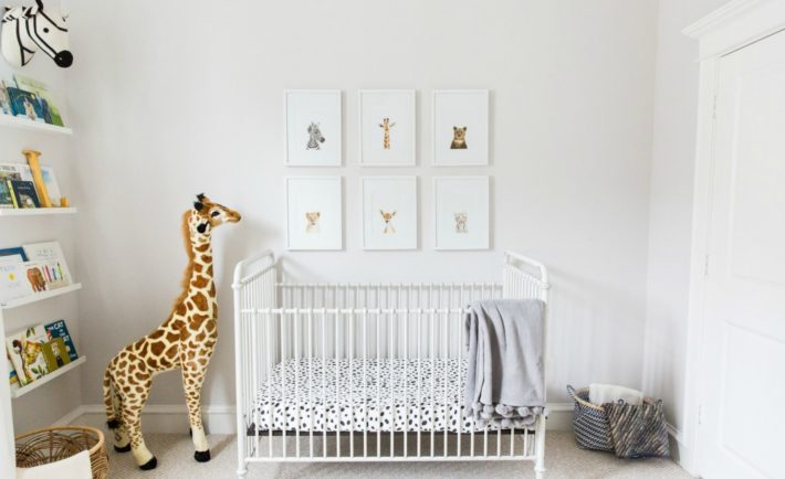 Safari-Inspired Nursery with Gender-Neutral Decor and Animal Accents