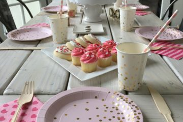 Pink & Gold Confetti Baby Shower Brunch