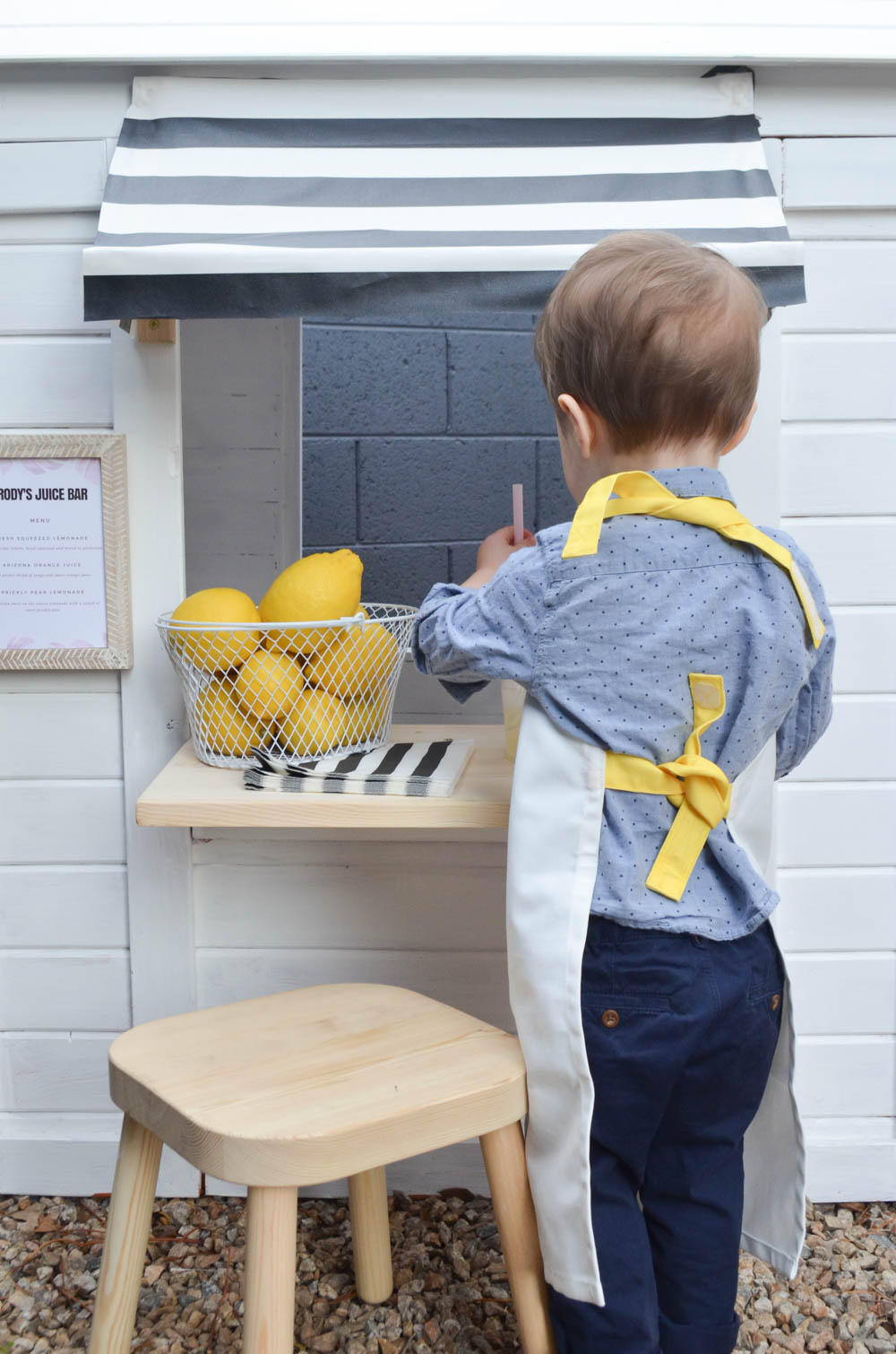 Toddler Playhouse Juice Bar DIY Playhouse Renovation