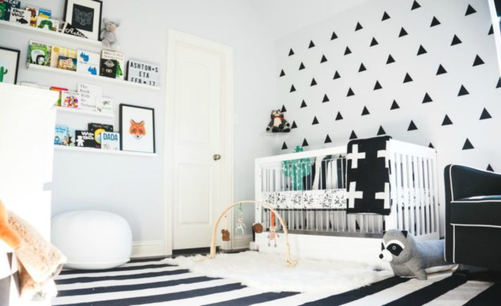 Modern Monochromatic Nursery Black and White Nursery Design - Project Nursery